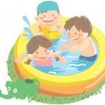 プールに赤ちゃんを入れるならいつから?水量は?注意点は?